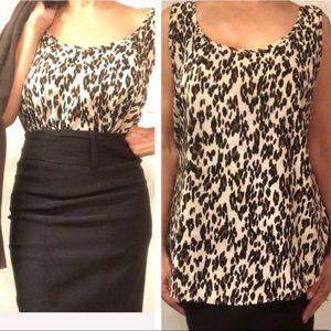 Leopard Animal Print Blouse Size 20